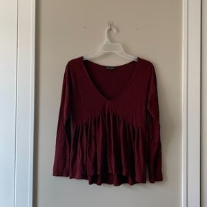 Maroon express top